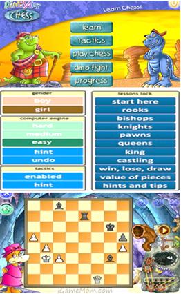 Dinosaur chess app