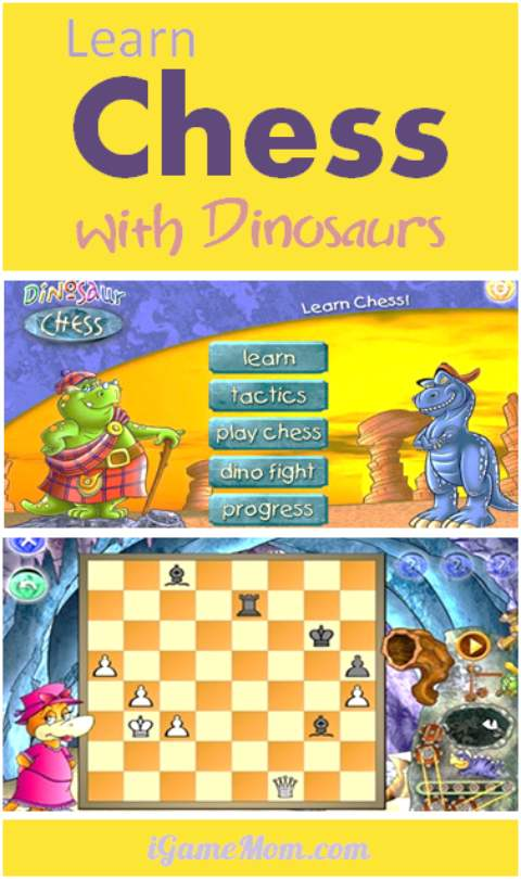 Learn Chess with Dinosaurs - a fun app for kids