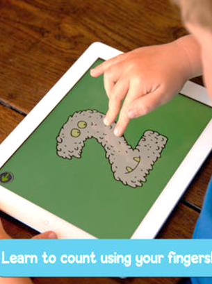 Learn to count using fingers on iPAD