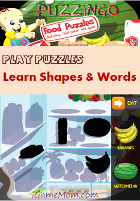 Play puzzle Learn shape and word