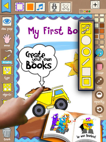 Intuitive Kids Friendly Storybook Maker