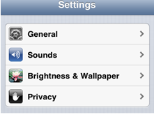 adjust iPhone screen brightness to save battery life - step 1