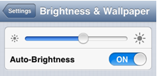 adjust iPhone screen brightness to save battery life - step 2