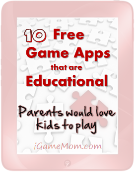 free educational game apps for kids