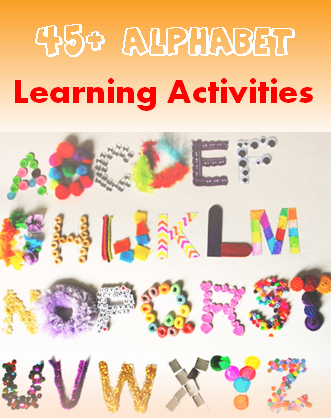45 Alphabet learning activities