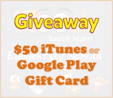 $50 iTunes or Google Play Gift Card Giveaway