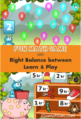 Fun Math Game - Right Balance between Learn and Play