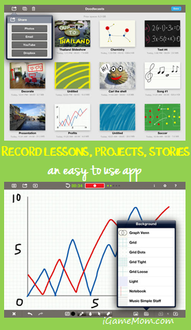 A Presentation Tool - Doodlecast Pro - recomendation from iGameMom