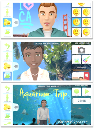 Free animated storytelling app for kids - Tellagami