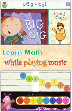 Learn Math While Playing Music - A Peg Cat App from PBS Kids