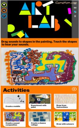 MoMA Art Lab App - teaches kids modern art