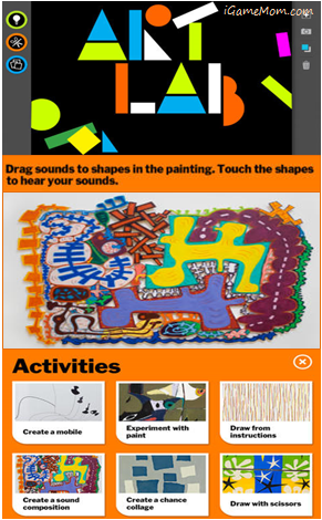 MoMA Art Lab App - teaches kids modern art