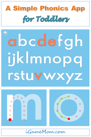 Simple phonics app for toddlers