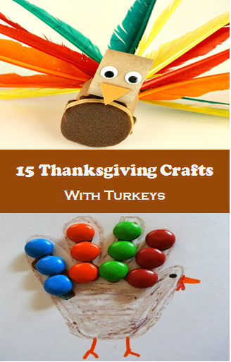 Thanksgiving Crafts with Turkeys for Kids