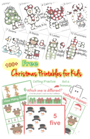 100 free christmas printable worksheets for kids - Holiday Printables For Kids