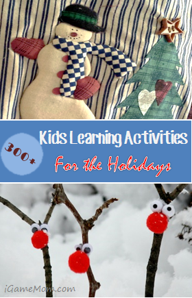 More than 300 holiday themed learning activities for kids, Christma, Advent, gift making, … What a fun way to enjoy the season with kids!