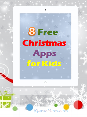 8 Free Christmas Apps for Kids - holiday fun on the go while visiting families and friends or during travel