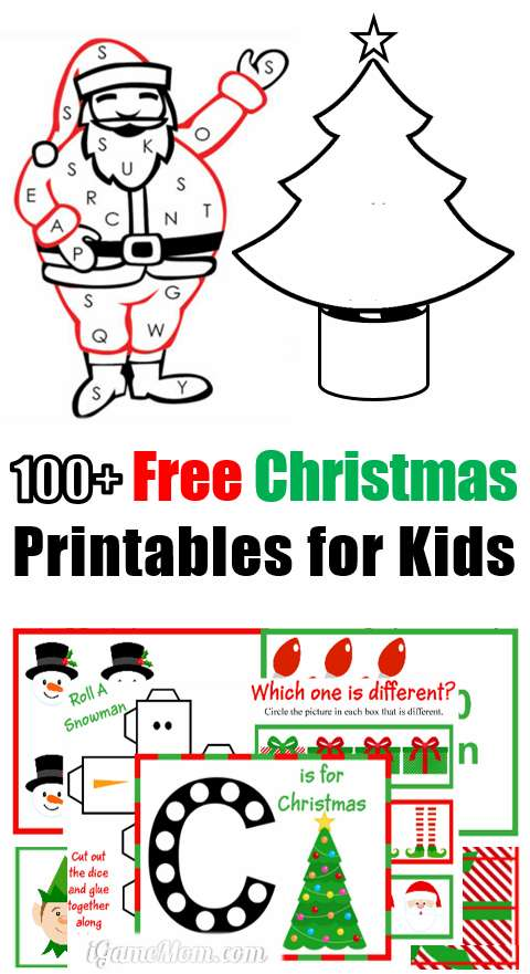 100 Free Christmas Printable Worksheets For Kids