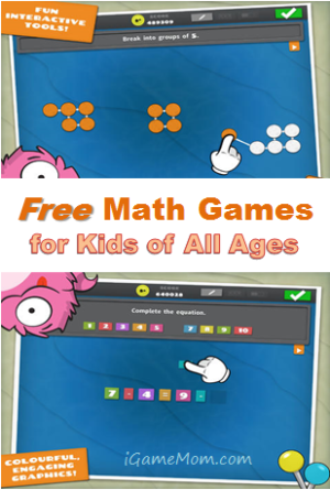 Free math games for kids of all ages