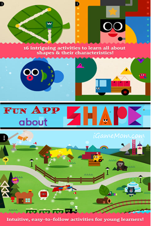 Fun App About Shapes - Shape the Village