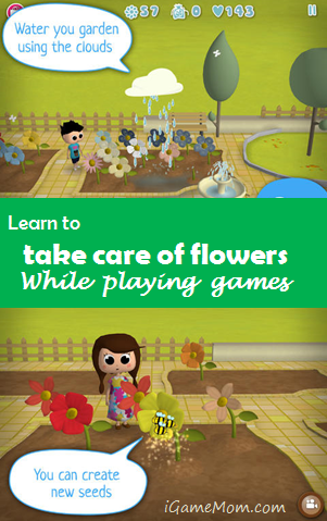 Learn to take care of flowers with games