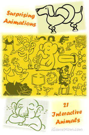 Petting Zoo - interactive cartoon book app