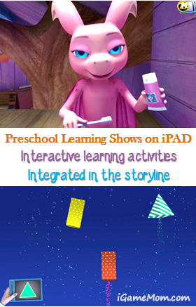 preschool learning shows on iPAD - integrated interactive learning activities
