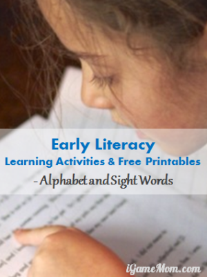 Early Liberacy Learning Activities and Free Printables
