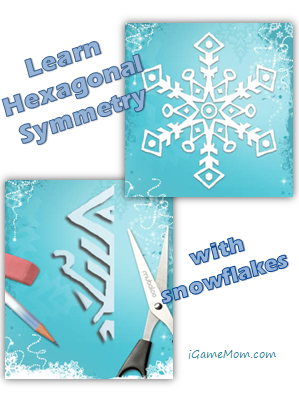 Learn hexagonal symmetry with snowflakes