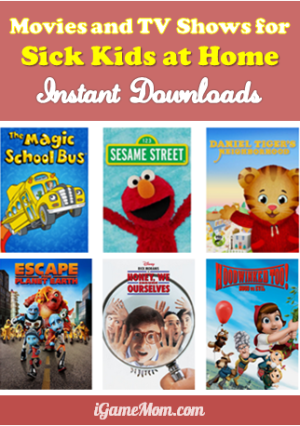 Movie and TV Shows for Sick Kids at Home with Instant Downloads