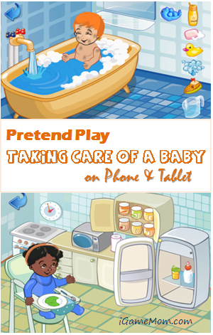 Pretend Play Taking Care of a Baby