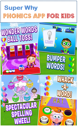 Super Why Phonics Fair App