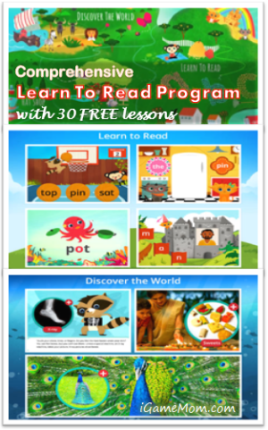 comprehensive learn-to-read program with free lessons