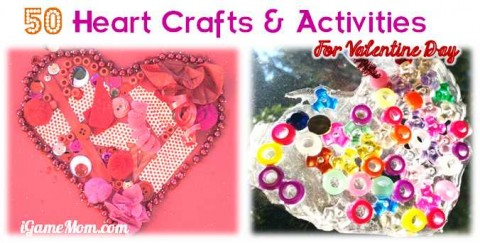 kids heart craft activity valentine day