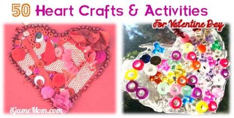 kids heart craft activity valentine day