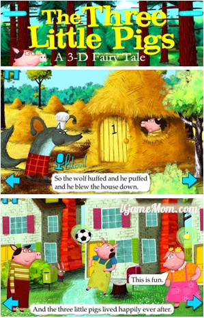 3D Interactive Book App - The Three Little Pigs by Nosy Crow