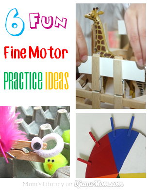 6 fun fine motor practice ideas