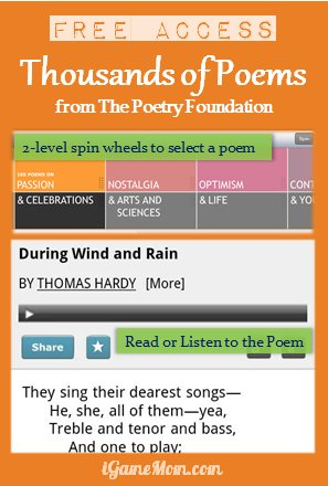 Free App to Read Thousands of Poems