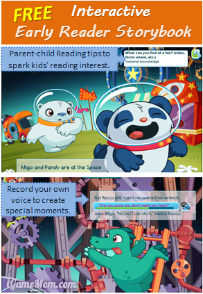 Free interactive early reader storybook - Incredi-Ride