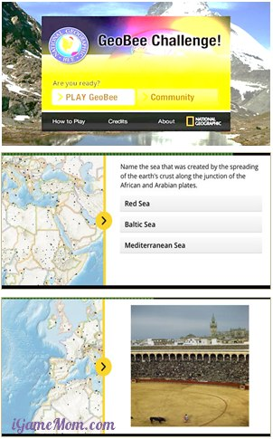GeoBee Challenge App from National Geographic