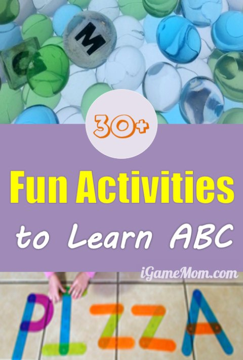 30+ activity and craft ideas for kids to Learn ABC, learning alphabet is hands-on and fun, and is not boring anymore.
