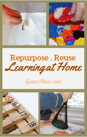 repurpose reuse for kids learning at home