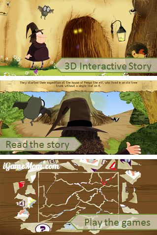 3D Interactive Story App - The Witch with No Name