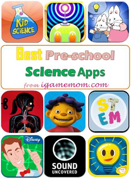 Best Science Apps for Preschool Kids - fun, hands-on, entertaining, kids learn science while playing games. Wonderful STEM resource for preschool teachers or parents