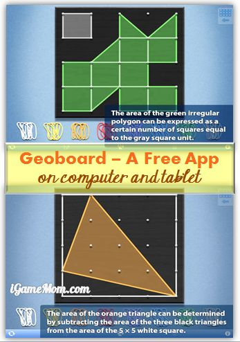 Free App: Geoboard Making Math and Geometry Fun