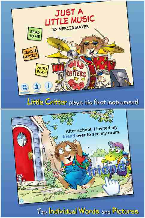 Little Critter Just a Little Music Book App