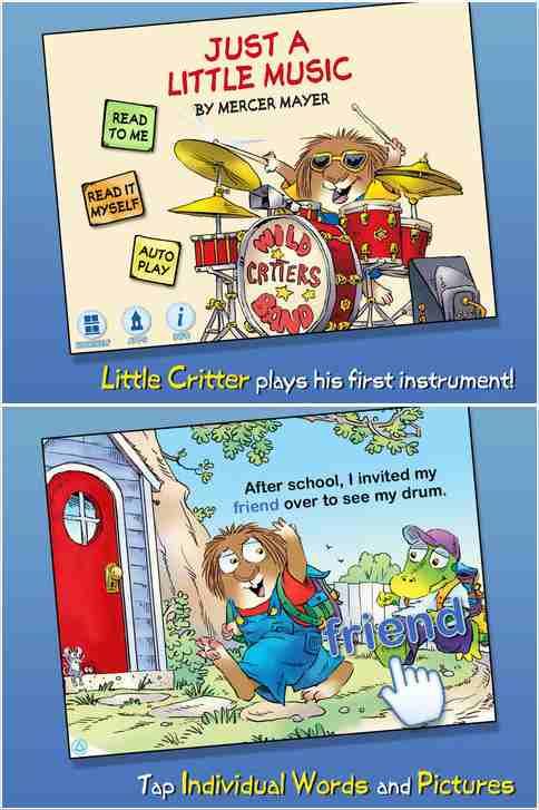 Little Critter Just a Little Music Book App