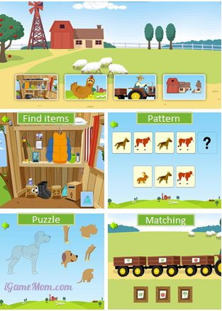 Max on the Farm - Educational Games for Preschoolers