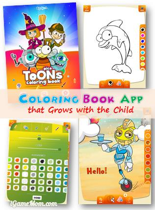 Coloring Book App Grows with Child