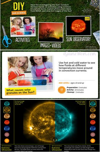 Wonderful kids science activity guide with multimedia files about the Sun - DIY Sun Science is a website provide well designed science lessons and activity ideas for kids to learn about the sun.